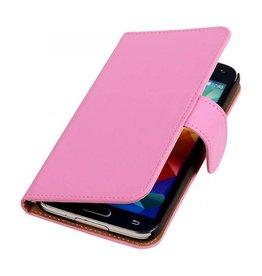 iHoez.nl Effen Samsung Galaxy Note 3 Neo Boekhoesje Roze