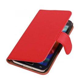iHoez.nl Effen Samsung Galaxy Note 3 Neo Boekhoesje Rood