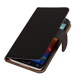 iHoez.nl Effen Bookstyle Samsung S5 hoesje Zwart