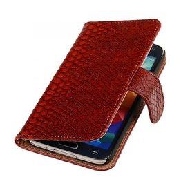 iHoez.nl Snake Samsung Galaxy Note 3 Neo Boekhoesje Rood