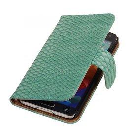 iHoez.nl Snake Samsung Galaxy Note 3 Neo Boekhoesje Turquoise