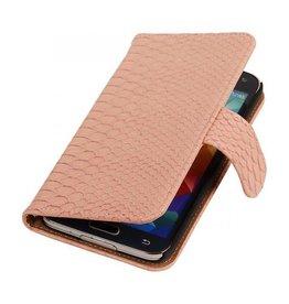 iHoez.nl Snake Samsung Galaxy Note 3 Neo Boekhoesje Licht roze