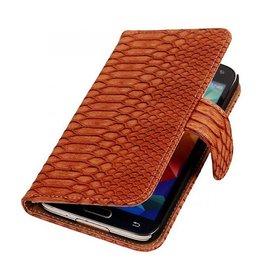 iHoez.nl Snake Samsung Galaxy Note 3 Neo Boekhoesje Bruin