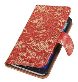 iHoez.nl Lace Bookstyle Samsung S5 Mini hoesje Rood