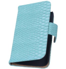 iHoez.nl Snake Huawei Ascend G6 Boek hoesje Turquoise