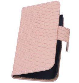 iHoez.nl Snake Huawei Ascend G6 Boek hoesje Licht Roze