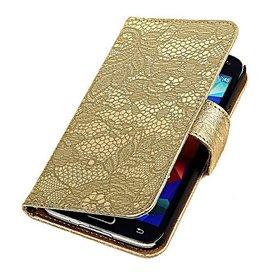 iHoez.nl Lace Bookstyle Samsung S4 hoesje Goud