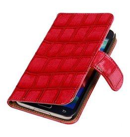 iHoez.nl Glans Croco Bookstyle Samsung S4 hoesje Roze