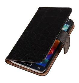 iHoez.nl Croco Bookstyle Samsung S4 hoesje Zwart