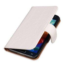 iHoez.nl Croco Bookstyle Samsung S4 hoesje Wit