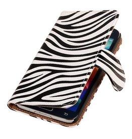 iHoez.nl Zebra  Bookstyle Samsung S4 hoesje Wit