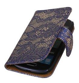 iHoez.nl Lace Samsung S4 Mini hoesje Blauw