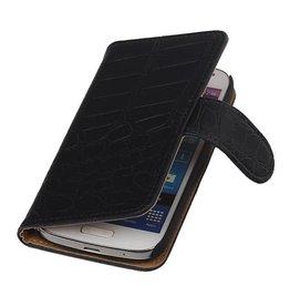 iHoez.nl Croco Samsung S4 Mini hoesje Zwart