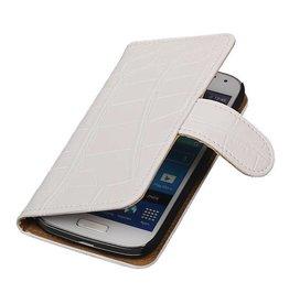iHoez.nl Croco Samsung S4 Mini hoesje Wit