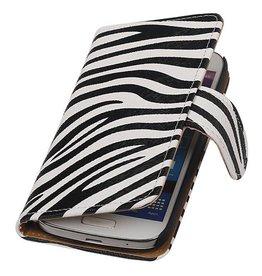 iHoez.nl Zebra Samsung S4 Mini hoesje Wit