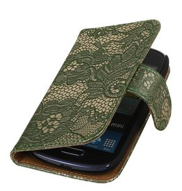 iHoez.nl Lace Samsung S4 Mini hoesje Donkergroen