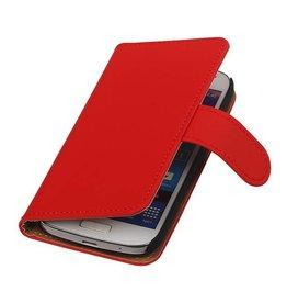 iHoez.nl Effen Samsung S4 Mini hoesje Rood