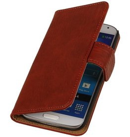 iHoez.nl Bark HTC one M8 Boekhoesje Classic Rood