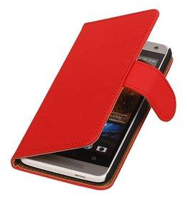 iHoez.nl HTC one M8 Boekhoesje Classic Rood