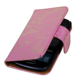 iHoez.nl Lace Bookstyle Samsung S3 hoesje Roze