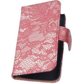 iHoez.nl Lace  Huawei Ascend G610 Boekhoesje Rood