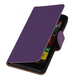 iHoez.nl Effen Microsoft Lumia 640 Boekhoesje Paars