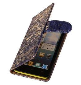 iHoez.nl Lace Huawei Ascend G510 Boekhoesje Blauw