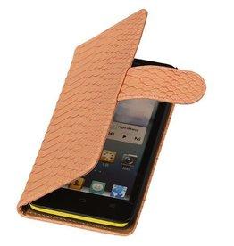 iHoez.nl Snake Huawei Ascend G510 Boekhoesje Licht Roze