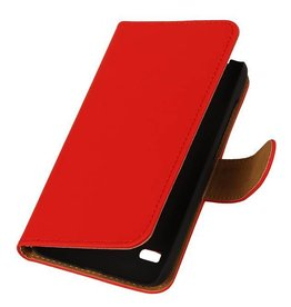 iHoez.nl Huawei Ascend Y550 Boekhoesje Rood
