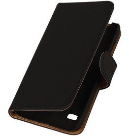 iHoez.nl Huawei Ascend Y550 Boekhoesje Zwart