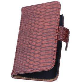iHoez.nl Snake Huawei Ascend Y550 Boekhoesje Rood