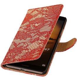 iHoez.nl Lace Huawei Ascend Mate 7 Boekhoesje Rood