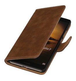 iHoez.nl Bark Huawei Ascend Mate 7 Boekhoesje Bruin