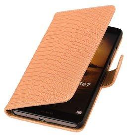 iHoez.nl Snake Huawei Ascend Mate 7 Boekhoesje Licht Roze