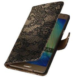 iHoez.nl Lace Samsung Galaxy A3 (2016) Boekhoesje Zwart
