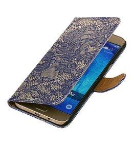 iHoez.nl Lace Samsung Galaxy A3 (2016) Boekhoesje Blauw