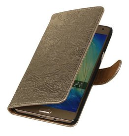 iHoez.nl Lace Samsung Galaxy A3 (2016) Boekhoesje Goud