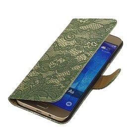 iHoez.nl Lace Samsung Galaxy A3 (2016) Boekhoesje Donker Groen