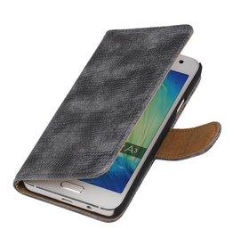 iHoez.nl Lizard Samsung Galaxy A3 (2016) Boekhoesje Grijs