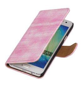 iHoez.nl Lizard Samsung Galaxy A3 (2016) Boekhoesje Roze