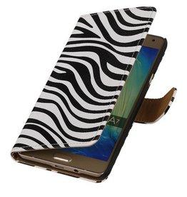 iHoez.nl Zebra Samsung Galaxy A3 (2016) Boekhoesje Wit