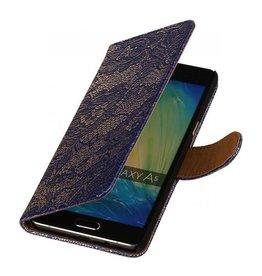 iHoez.nl Lace Samsung Galaxy A5 2016 Boekhoesje Blauw
