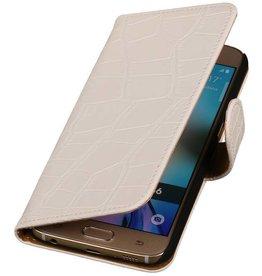 iHoez.nl Croco Samsung Galaxy S7 Boekhoesje Wit