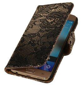 iHoez.nl Lace Samsung Galaxy S7 Boekhoesje Zwart