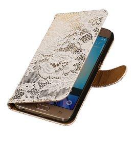 iHoez.nl Lace Samsung Galaxy S7 Boekhoesje Wit