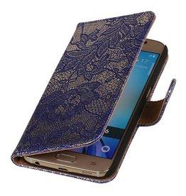 iHoez.nl Lace Samsung Galaxy S7 Boekhoesje Blauw
