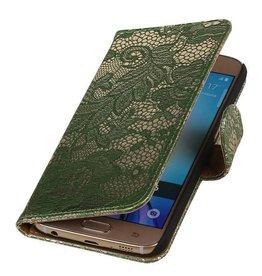 iHoez.nl Lace Samsung Galaxy S7 Boekhoesje Donker Groen