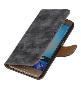 iHoez.nl Lizard Samsung Galaxy S7 Boekhoesje Grijs