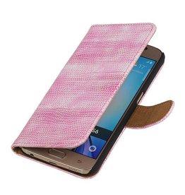iHoez.nl Lizard Samsung Galaxy S7 Boekhoesje Roze