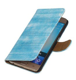 iHoez.nl Lizard Samsung Galaxy S7 Boekhoesje Turquoise